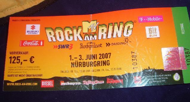 Rock Am Ring Karte.Rock Am Ring 2007 Par Delphine 1